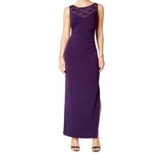 Connected apparel purple sequin formal dress